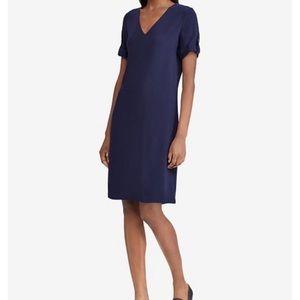 Lauren Ralph Lauren roll tab short sleeve dress